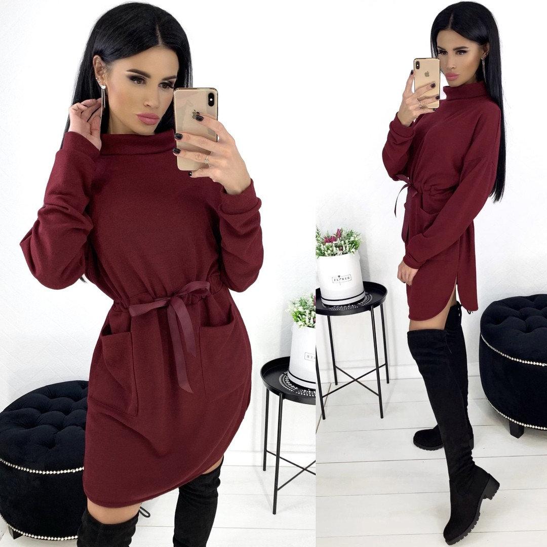 Стильное женское платье мини из ангоры