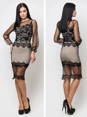 женские черные платья, женские вечерние платья, женские платья вечерние с гипюром