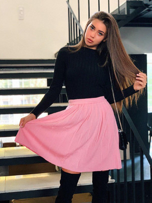 Плессированная вязаная женская юбка