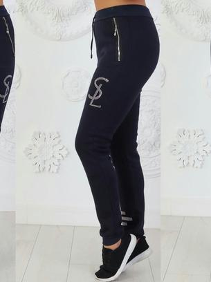 Женские теплые брюки с начесом батал