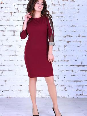 Модное нарядное батальное платье