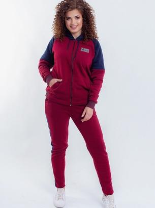 стильный теплый женский батальный спортивный костюм