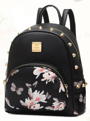 Женский маленький рюкзак с рисунком