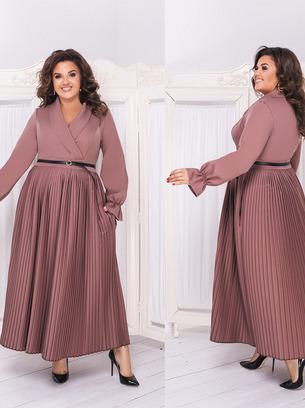 Изящное женское длинное платье в пол больших размеров