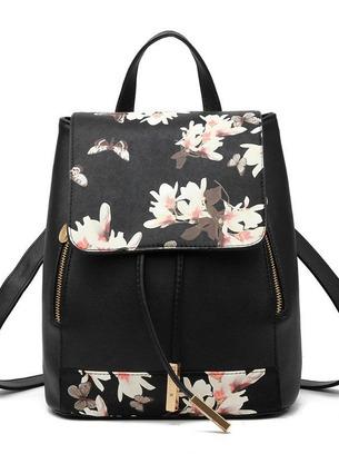 Стильный женский рюкзак с золотистой фурнитурой