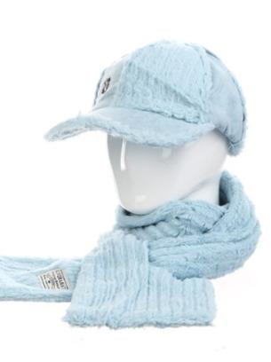 Стильный теплый женский набор кепка+шарф