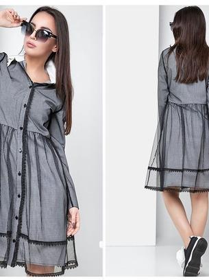 Модное женское платье в клетку