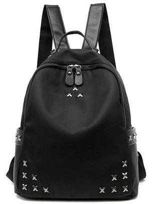 Черный женский вместительный рюкзак