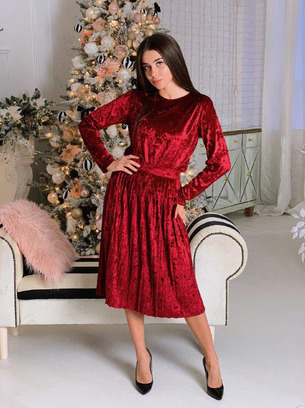 Шикарный бархатный женский костюм юбка и кофта