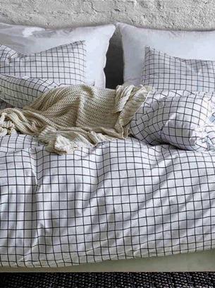 постельное белье голубое