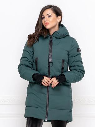 Удлиненная женская куртка на холлофайбере
