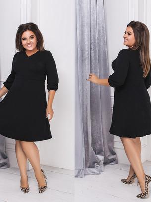 Стильное женское платье из ангоры больших размеров
