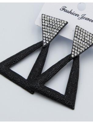Вечерние серьги-треугольники