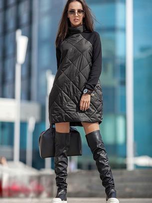 Стеганное стильное женское платье в стиле Шанель