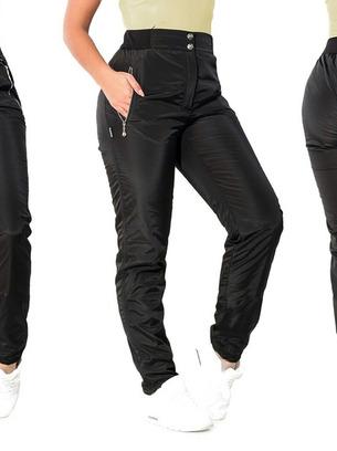 Зимние теплые женские брюки больших размеров