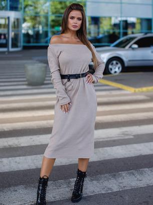 Изысканное женское тёплое платье из ангоры