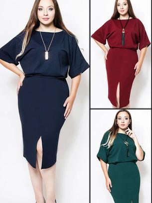 модные классические платья, модное платье для офиса, синее платье, изумрудное платье, бордовое платье, батальное платье