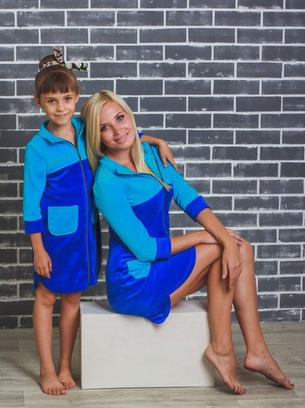 Миленький велюровый халатик для девочек