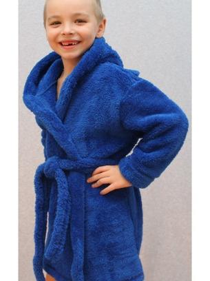 Мягкий детский махровый халат с капюшоном