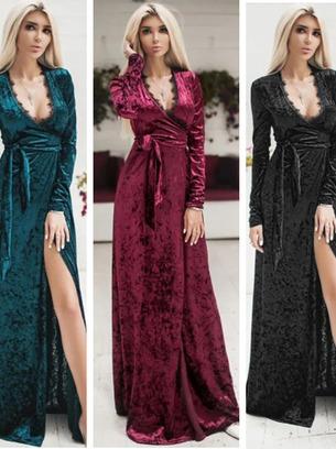 длинное платье на запах