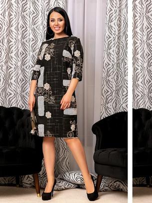 Симпатичное женское платье больших размеров