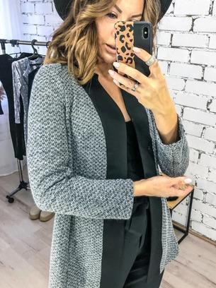 Модный женский трикотажный пиджак