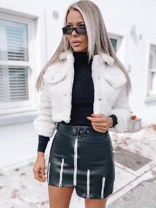Модная женская юбка-шорты с молниями