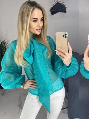 Модная женская блузка из сетки паутинка больших размеров