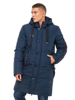 Зимняя удлиненная мужская куртка больших размеров
