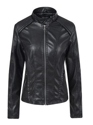 Практичная женская курточка из эко-кожи