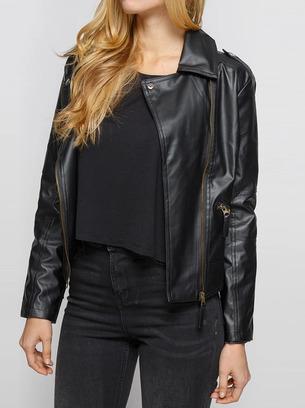 Стильная женская курточка косуха из эко-кожи