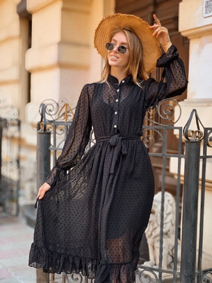 Стильное женское платье в комплекте с не пришитой майкой