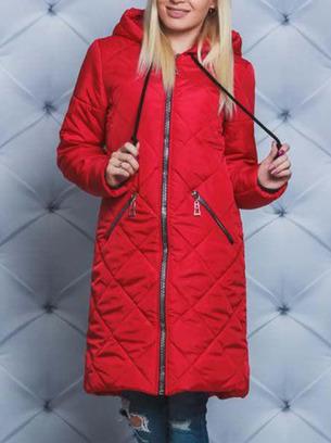 Стильное женское теплое зимнее пальто больших размеров