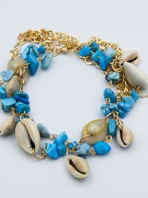 Оригинальный женский браслет с ракушками