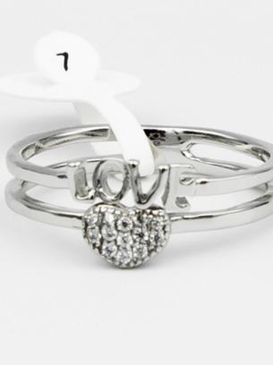 Милое симпатичное кольцо с сердечком