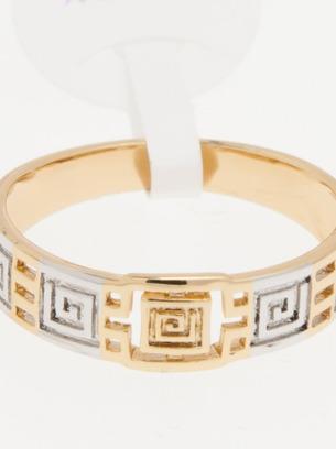 Оригинальное женское кольцо с орнаментом