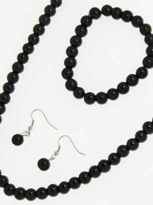 Симпатичный набор колье-подвеска с серьгами и браслетом
