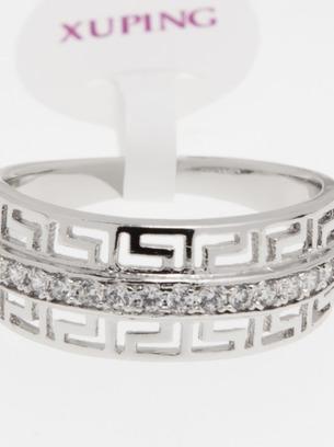 Обалденное широкое женское кольцо с орнаментом под серебро