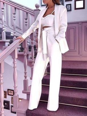 модный классический женский брючный костюм, женский брючный костюм тройка
