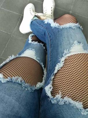 драные джинсы, джинсы с сеткой