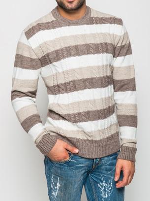 теплый мужской свитер, свитер с крупной вязкой