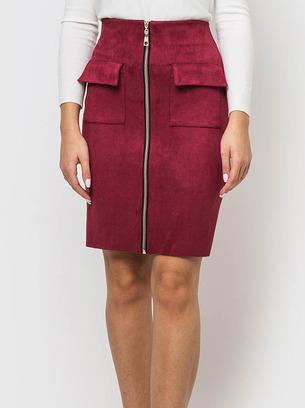 юбки прямые, юбки из замши, классические юбки