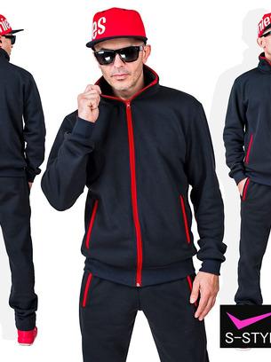 Мужской утепленный стильный спортивный костюм