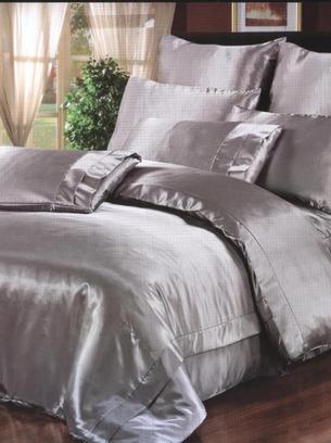 серебряное шелковое белье, шелковое белье серебро, серебряное постельное белье