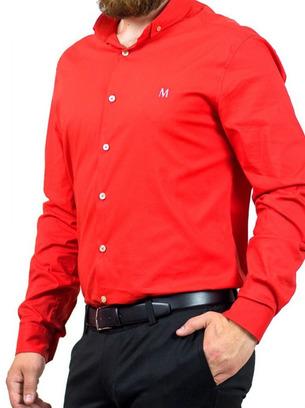 красная рубашка мужская