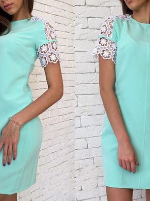 мятное платье женское
