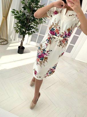 модные летние платья, летние платья с цветочным принтом