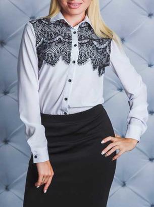 блузка с кружевом, белая блузка, голубая блузка, блузка с кружевом