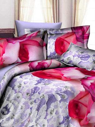 постельное с розами, большие розы на постельном белье