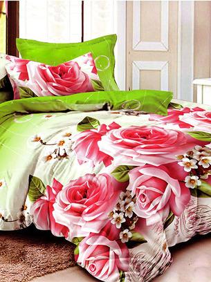 постельное с цветами